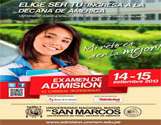 Admision San marcos 2014 - I Resultados 14 Septiembre Lima Huaral